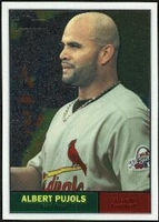 2010 Topps Heritage Chrome Albert Pujols Baseball Card