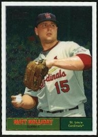 2010 Topps Heritage Chrome Matt Holliday Baseball Card