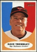 2010 Topps Heritage Dave Trembley Manager Baseball Card