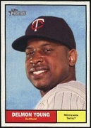2010 Topps Heritage Delmon Young Baseball Card