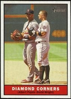 2010 Topps Heritage Diamond Corners Albert Pujols & David Wright Baseball Card