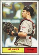 2010 Topps Heritage Joe Mauer Baseball Card