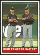 2010 Topps Heritage Joe Mauer & Roy Halladay Baseball Card