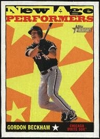 2010 Topps Heritage New Age Performers Gordon Beckham Baseball Card