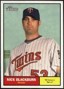 2010 Topps Heritage Nick Blackburn Baseball Card