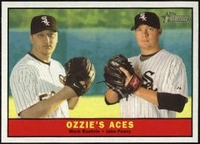 """2010 Topps Heritage Ozzies""""s Aces Mark Buehrle & Jake Peavy Baseball Card"""