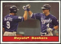 2010 Topps Heritage Royal's Bashers David DeJesus & Alex Gordon Baseball Card