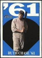 2010 Topps Heritage Ruth Chase 61 Babe Ruth Card #12 Baseball Card