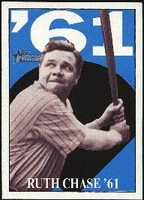 2010 Topps Heritage Ruth Chase 61 Babe Ruth Card #15 Baseball Card