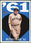 2010 Topps Heritage Ruth Chase 61 Babe Ruth Card #6 Baseball Card