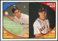2010 Topps Heritage Then and Now Luis Aparicio & Jacoby Ellsbury Baseball Card