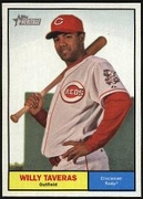 2010 Topps Heritage Willy Taveras Baseball Card