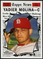 2010 Topps Heritage Yadier Molina All-Star Short Print Baseball Card