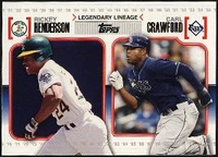 2010 Topps Legendary Lineage Rickey Henderson & Carl Crawford Baseball Card