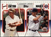 2010 Topps Legendary Lineage Tony Gwynn & Joe Mauer Baseball Card