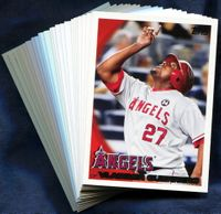 2010 Topps Los Angeles Angels of Anaheim Baseball Cards Team Set