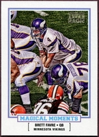 2010 Topps Magic Magical Moments Brett Favre Football Card