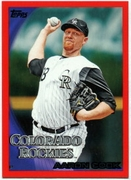 2010 Topps Red Border Aaron Cook Baseball Card