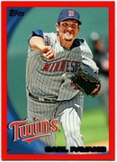 2010 Topps Red Border Carl Pavano Baseball Card