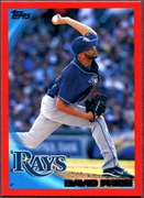 2010 Topps Red Border David Price Baseball Card