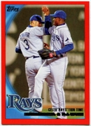 2010 Topps Red Border Evan Longoria & B.J. Upton Checklist Baseball Card