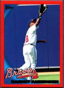 2010 Topps Red Border Garret Anderson Baseball Card