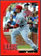 2010 Topps Red Border Joey Votto Baseball Card