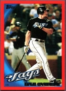 2010 Topps Red Border Lyle Overbay Baseball Card