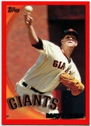 2010 Topps Red Border Matt Cain Baseball Card