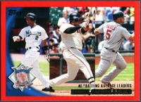 2010 Topps Red Border NL League Leaders Batting Avg. Hanley Ramirez & Pablo Sandoval & Albert Pujols Baseball Card