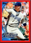 2010 Topps Red Border Wade LeBlanc Baseball Card
