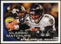 2010 Topps Steelers vs. Ravens NFL Football Card
