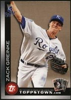 2010 Topps Ticket to Topps Town Gold Zack Greinke Baseball Card