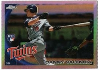 2010 Topps Update Chrome Rookie Refractors Danny Valencia Baseball Card