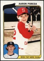 2010 Topps When They Were Young Aaron Poreda Baseball Card