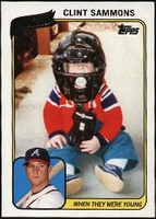 2010 Topps When They Were Young Clint Sammons Baseball Card