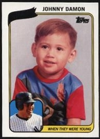 2010 Topps When They Were Young Johnny Damon Baseball Card
