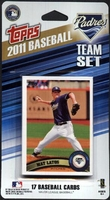 2011 San Diego Padres Topps MLB Factory Baseball Cards Team Set