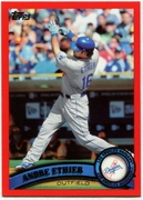 2011 Topps Factory Set Red Border Andre Ethier Baseball Card