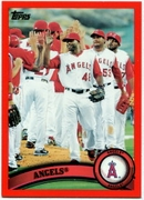 2011 Topps Factory Set Red Border Angels Team Card Baseball Card