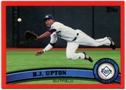 2011 Topps Factory Set Red Border B.J. Upton Baseball Card
