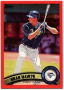 2011 Topps Factory Set Red Border Brad Hawpe Baseball Card