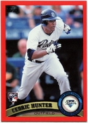 2011 Topps Factory Set Red Border Cedric Hunter Baseball Card