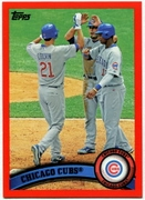 2011 Topps Factory Set Red Border Chicago Cubs Team Card Baseball Card