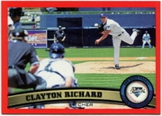 2011 Topps Factory Set Red Border Clayton Richard Baseball Card