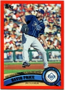 2011 Topps Factory Set Red Border David Price Checklist Baseball Card