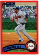 2011 Topps Factory Set Red Border Derrek Lee Baseball Card