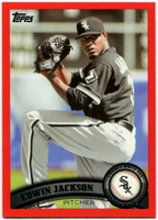 2011 Topps Factory Set Red Border Edwin Jackson Baseball Card