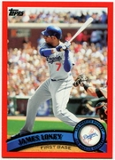 2011 Topps Factory Set Red Border James Loney Baseball Card
