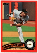 2011 Topps Factory Set Red Border Jeremy Affeldt Baseball Card